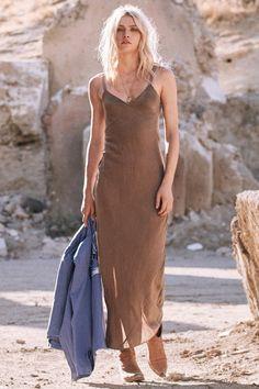 6fbba0317534 Aline Webber wears Spell Designs Cabin Love Silk Slip Silk Satin Dress, Silk  Slip,