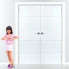 JBK Limelight Adelphi White Primed Flush Door Pair. #internalwhitedoors #whitedoorpair #internalwhitefrenchdoors