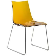 Zebra 154 polycarbonate chair from Sandler Seating. Hospitality, Interior, Design, Style, Furniture, Yellow.