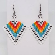 Most of the earrings on sale are pieces that are parts of collections I am no longer carrying. Seed Bead Jewelry, Bead Earrings, Beaded Jewelry, Crochet Earrings, Seed Beads, Jewellery, Beaded Bracelet Patterns, Beading Patterns, Lace