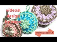 Portachiavi fiore all'uncinetto(crochet flower keychain) - YouTube