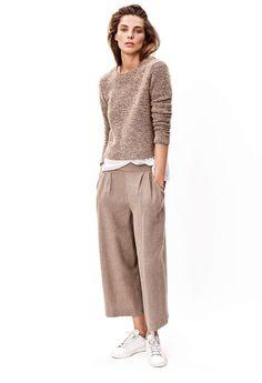 wind leg oat colored pants