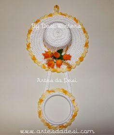 Artes da Desi: Porta Pano de Prato de Chapéu