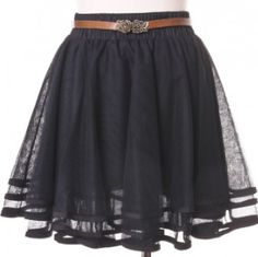Delicacy Triple Layers Tutu in Black - Skirt - Bottoms - Retro, Indie and Unique Fashion Soft Grunge, Black Tutu Skirt, Frilly Skirt, Tutu Skirts, Navy Skirt, Ruffle Skirt, Summer Outfits, Cute Outfits, Summer Clothes