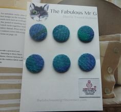 Harris Tweed 25mm Buttons by TheFabulousMrG on Etsy, $12.00