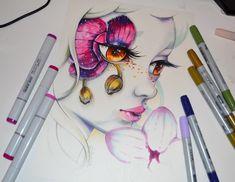 ArtStation - Frozen Orchid / Frozen Flowers / Copic Marker, Lighane's Artblog