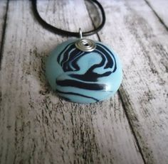 ON SALE  30 OFF  TurquoiseNavy Blue Necklace by LaurusStyle, $12.00