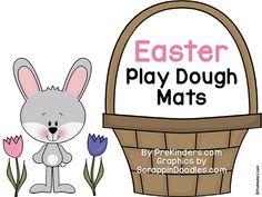 Easter Play Dough Math Mats