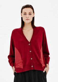 Maison Martin Margiela Drop Shoulder Cardigan (Ruby)