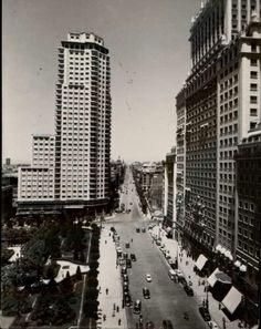 1955. Plaza de España y calle Princesa. Madrid