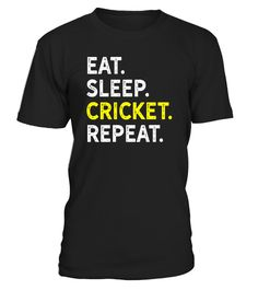 """# Eat Sleep Cricket Repeat - Funny Cricket Players Routine Tee .  Special Offer, not available in shops      Comes in a variety of styles and colours      Buy yours now before it is too late!      Secured payment via Visa / Mastercard / Amex / PayPal      How to place an order            Choose the model from the drop-down menu      Click on """"Buy it now""""      Choose the size and the quantity      Add your delivery address and bank details      And that's it!      Tags: Great gift for cricket…"""