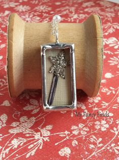 Sparkle with your Magic Wand Silver Soldered charm by Myfancyfinds, $42.00