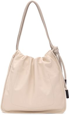 MARNI Off-White Nuage Tote. #marni #bags #shoulder bags #hand bags #leather #tote #lining #