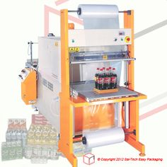 STEP Banding and Shrinking Combination Packaging Machine. Great for bottling industry. Industrial Machine, Packaging Machine, Fruit Trays, Plastic Packaging, Juice, Egg, Layers, Dairy, Packing