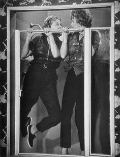 One of my very favorites! 1963 Here's Lucy episode, Lucille Ball & Vivian Vance building their own shower. Image by Bettmann / Corbis, via Christine, flickr