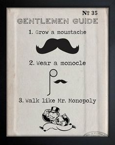 Gentleman Guide Framed Art Print Lol! That's really really funny actually!!!!☺️