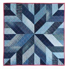 Denim Quilts, Denim Quilt Patterns, Blue Jean Quilts, Quilts For Men Patterns, Modern Quilt Patterns, Sewing Patterns, Quilting Projects, Quilting Designs, Quilting Ideas