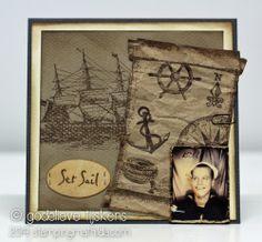 StampingMathilda: Masculine Card - Set Sail