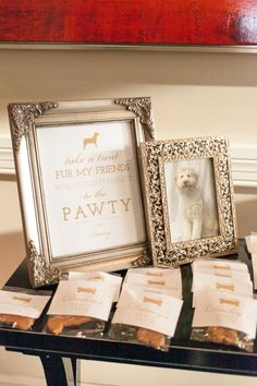 From Phoenix!!  love this #dog  Photography: Amalie Orrange Photography - amalieorrangephotography.com  Read More: http://www.stylemepretty.com/2014/07/14/glitter-wedding-at-the-citrus-club/