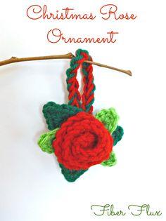 Crochet Christmas Rose Ornament - Video Tutorial ❥ 4U // hf http://www.pinterest.com/hilariafina/