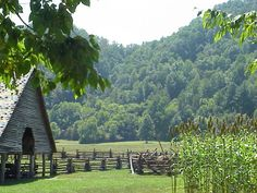 Cades Cove, Smokey Mountains, TN. Went bike riding there on vacation 2 years ago...was rather neat.
