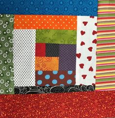 Put your scraps to use with an easy Log Cabin Block - Quilt As You Go Log Cabin Block