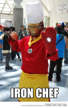 Iron Chef...ummmm best costume ever?