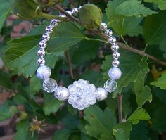 Statement Bridal Bracelet. Pretty bracelet for the Bride. Adds a great accent piece to the Wedding accessories.