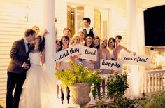 Too Cute! to have all the friends and close family hold up those signs would make me cry every time i looked at it. LOVE IT