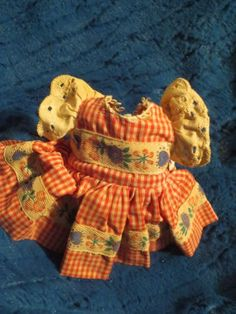 VINTAGE-VOGUE-GINNY-DOLL-DRESS-Vogue-Dolls-Hangtag-1950s-Gingham-Attached-Pants