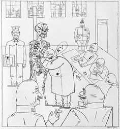 """""""Fit for Active Service"""" by George Grosz, 1917"""