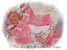 Anne-Marie Matinee ajustado 18-24 pulgadas muñeca / recién nacido / 0-3 / 3m + bebé-