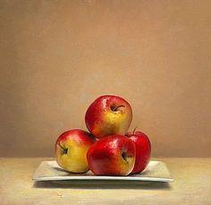 Stilleven met appelen, 42x45cm, 2010.VERKOCHT (Prive collectie, Nederland)
