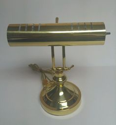 Underwriters Laboratories Brass Portable Desk Lamp Office Piano Light Vintage