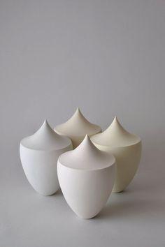 Modern Porcelain Sculpture / Ceramic vessel / by YuliaTsukerman