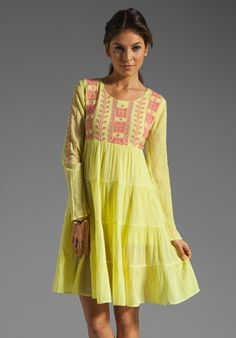 ANTIK BATIK August Babydoll in Yellow at Revolve Clothing - Free Shipping!