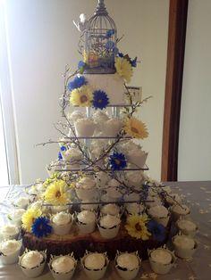 Primitive wedding cake