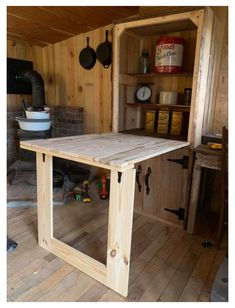 Georgia Man Turns Pallets Into a Rustic Tiny House Cabin #small #cabin #interiors #rustic #simple #smallcabininteriorsrusticsimple See how a Georgia man turns pallets into this incredible rustic tiny house cabin as a simple low cost retreat! A custom tiny home on a budget! Tiny House Cabin, Tiny House Living, Tiny House Plans, Tiny House Design, Shed Cabin, Pallet House Plans, Tiny Cabin Plans, Small Cabin Designs, Small Cabin Decor