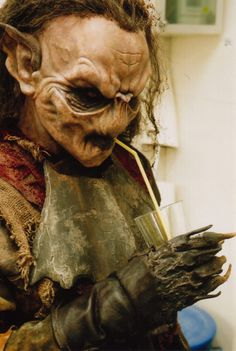 This may be weta-made. From the film. But she's a great goblin.  female orc costume - Google Search