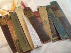 Book spine bookmarks.