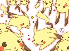 (●'∀'●)(●・ω・●)(●'∀'●)(●・ω・●). Pikachu (by 浅ひとは, Pixiv Id 59616)