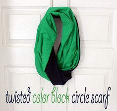 Spool and Spoon: Color Block Circle Scarf Tutorial