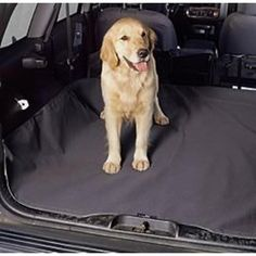 """We call this our """"Ultimate"""" Cargo Liner! Protect your SUV/VAN's rear area with our waterproof cargo liner - this durable cover i Bucket Seat Covers, Dog Seat Covers, Dog Travel Carrier, Dog Car Seats, Pet Travel, Pet Safe, Dog Supplies, Travel Supplies, Your Dog"""
