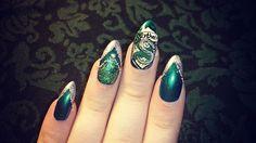 Hp Slytherin nails