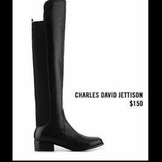 Charles By Charles David Jettison Over Knee Boots Beyond Cute and So Comfortable! Brand New and in Original Box. Never Worn. Classic Wardrobe Staple! No Trades. Leather Front/ Black. Charles David Shoes Over the Knee Boots