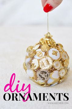 DIY Christmas Ornament Ideas! Check out these FUN and unique ideas for creating your own ornaments this holiday season! LOVE these!
