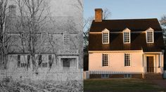 Happy #TBT! Before and After: The Tayloe House. The house was constructed between 1752 and 1759 by one of the wealthiest men in 18th-century Virginia, Col. John Tayloe.