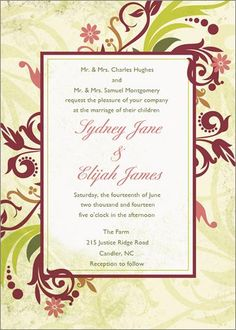 Enchanted Orchard Flat Oversized Invitation at Wishing Tree Designs!