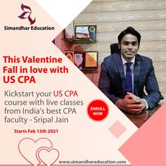 CPA certification paves many career opportunities to work in the most renowned companies around the world. This shows how the demand is for US CPA. So, What are you waiting for? Kickstart your US CPA course with live classes from India's best CPA faculty - Sripal Jain (CA, CPA) New CPA Batch Starts from 13th Feb 2021 Grab up to ₹10,000 Cashback Offer on the unlimited version of Becker and Simandhar! Valid untill 15th Feb 2021. #cpa #cpaus #usacpa #simandhareducation #cpacourse #cpaexam… Cpa Course, Cpa Exam, Career Opportunities, Falling In Love, Waiting, Education, Live, Onderwijs