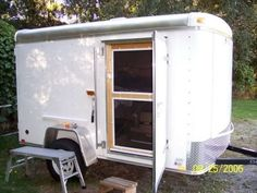 for Enclosed Cargo Trailer Camper Conversions Check out these enclosed cargo trailers converted to luxury campers and hunting cabins!Check out these enclosed cargo trailers converted to luxury campers and hunting cabins! Small Cargo Trailers, Utility Trailer Camper, Cargo Trailer Camper Conversion, Enclosed Cargo Trailers, Truck Camper, Camper Trailers, Travel Trailers, Toy Hauler Camper, Tiny Trailers